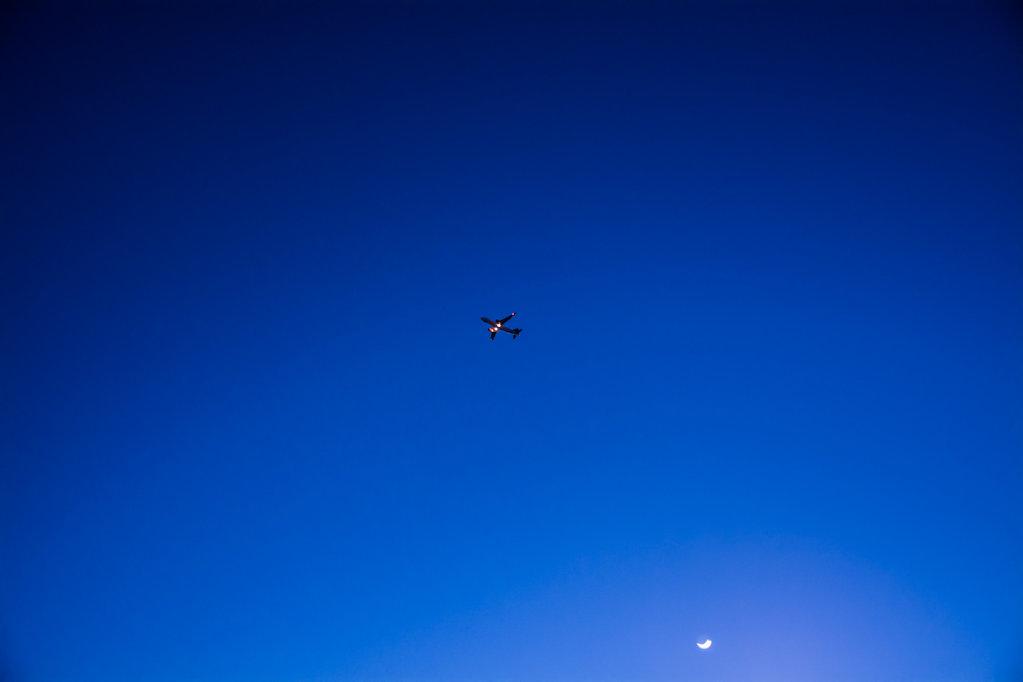 Nightsky with Airplane